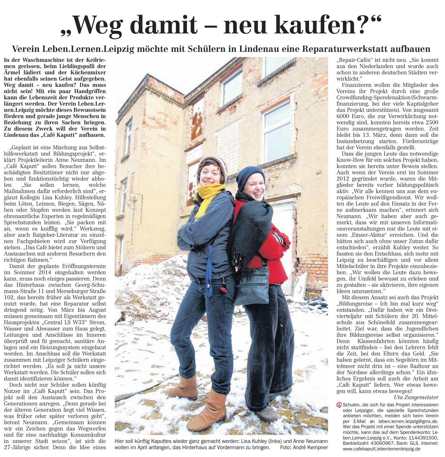 LVZ Stadt 18.02.2013, Seite 16