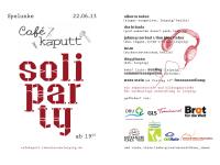 Wunderschöne Soli Party fürs Café Kaputt + ein Suchaufruf!